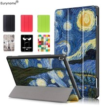Case For Lenovo Tab 4 10 TB-X304F TB-X304N Cartoon 3 Folded Flip PU Leather Stand Smart Cover X304F