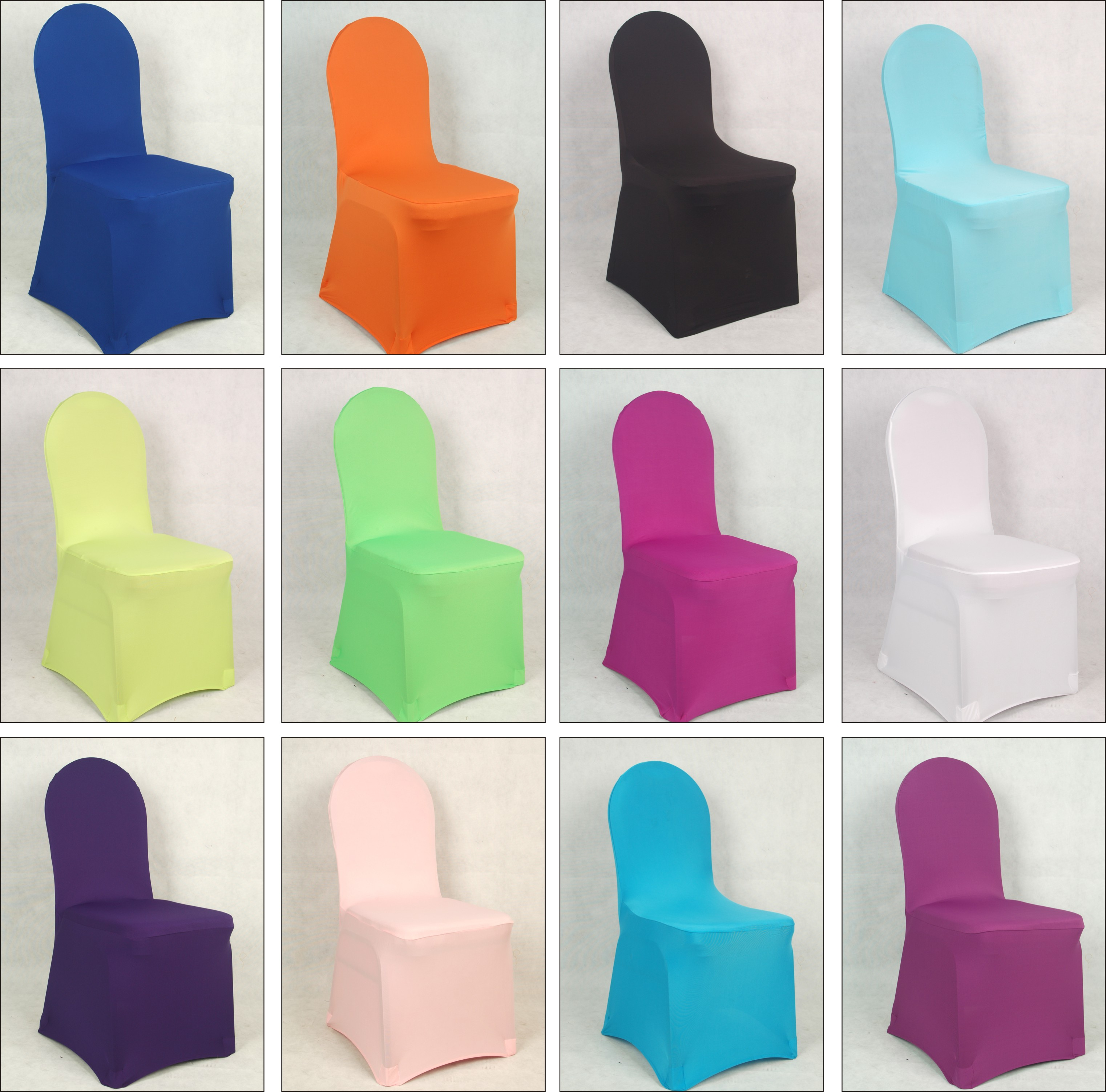 100 pcs spanex lycra elastic wedding chair cover for hotel banquet chair covers wholesale and retail