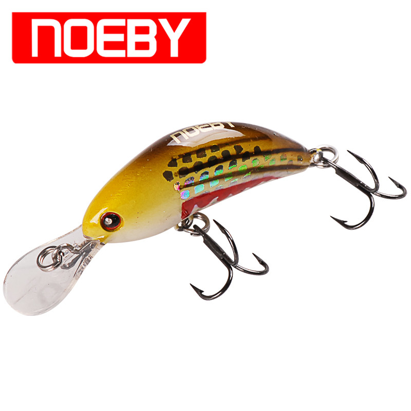 Noeby Minnow Bait 40mm/3.5g Long Casting Hard Baits Sinking 0-0.8m VMC Hook Isca Artificial Para Pesca Leurre Peche Wobblers