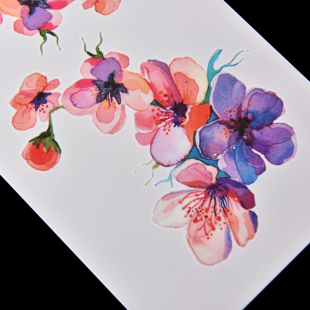 Gros Haute Qualite Diy Aquarelle Orchidee Bras Autocollant De