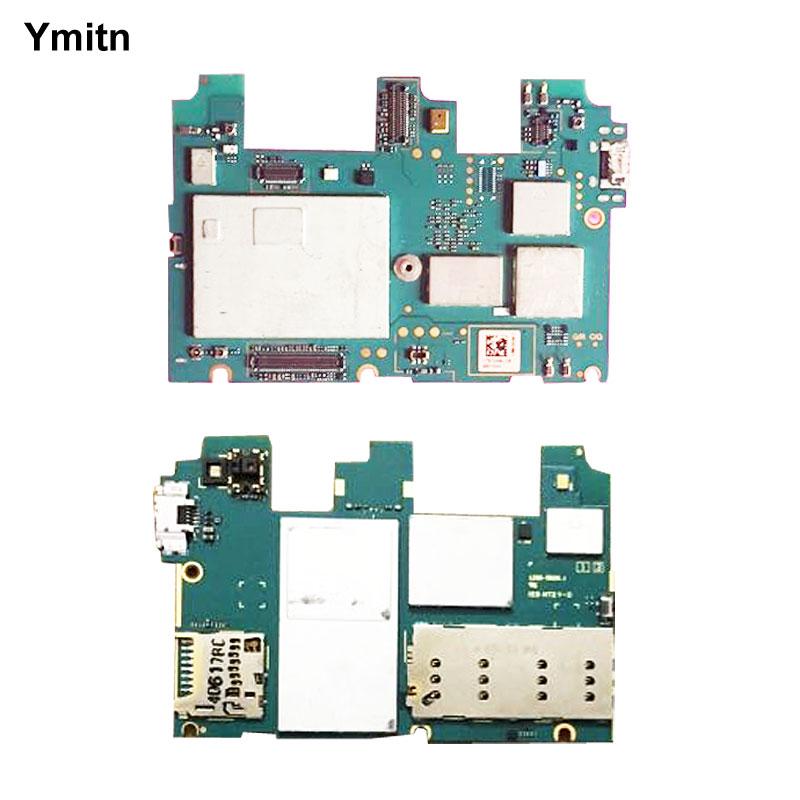 Ymitn Débloqué Mobile Électronique panneau carte mère Carte Mère Circuits Flex Câble Pour Sony Xperia C3 D2502 S55U Double SIM