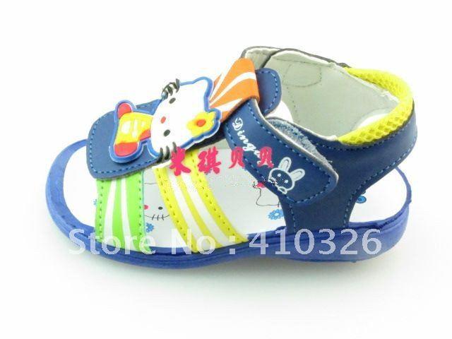 Children's shoes-little footprint series,have a voice called sandals cartoon series L010