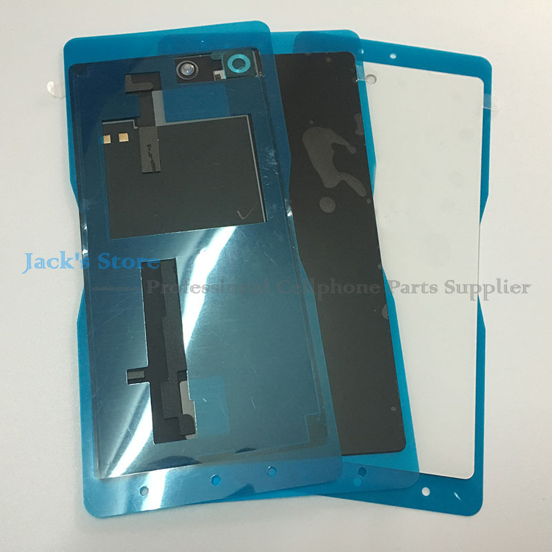 Original M5 Back Glass Cover for Sony Xperia M5 E5603 E5633 Back Battery Cover Door Housing With NFC Waterproof Sticker