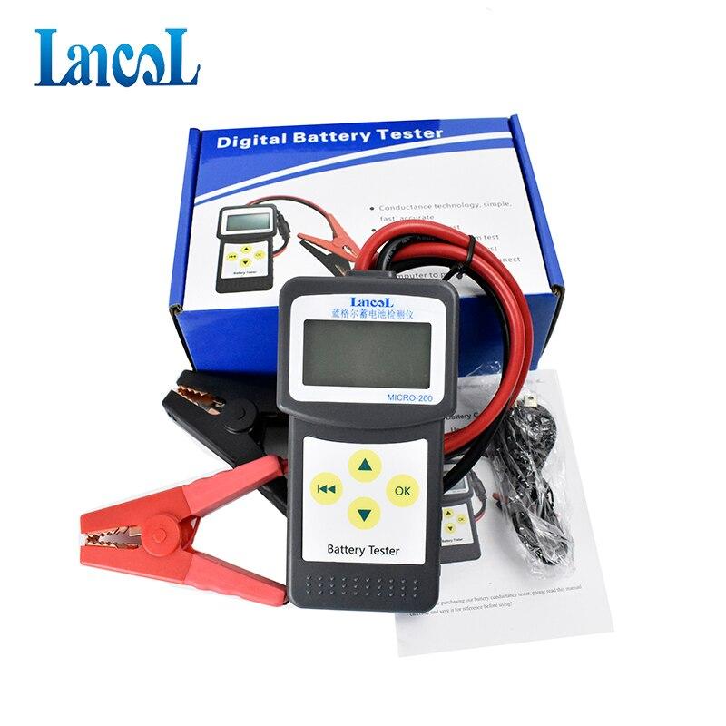 LANCOL MICRO-200 Auto Analisador de Testador de Bateria de Carro 12 V Digitais 2000CCA Ferramenta de Diagnóstico Do Carro com USB para Impressão