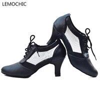 LEMOCHIC venta caliente clásico salón de baile de salsa latina tango escenario jazz samba rumba tango rendimiento pointe zapatos de baile cómodo
