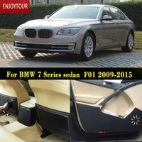Car Pads Front Rear Door Seat Anti Kick Mat Car Styling For BMW 7 Series F01
