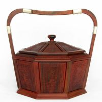A century old mahogany crafts] rosewood fruit bowl gift candy dish basket Home Furnishing accessories