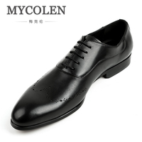 MYCOLEN Brand Leather Business Men Dress Shoes Brand Designer Retro Handmade Patent Leather Shoes Men'S Genuine Leather Shoes