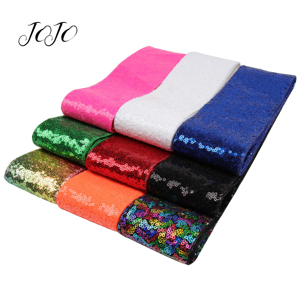 JOJO BOWS 75mm 2y Sequin Ribbon For Needlework DIY Hair Bows Apparel Sewing Material Handmade Craft Supplies Wedding Decoration