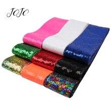 JOJO BOWS 75mm 2y Sequin Ribbon For Needlework DIY Hair Bows Apparel Sewing Material Handmade Craft Supplies Wedding Decoration