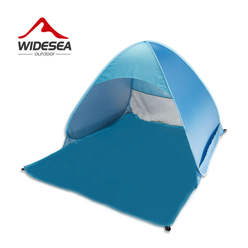 Widesea new pop up open beach sunshelter mash up color UV-protect 2-3 person beach tent quick automotic open fishing &camping