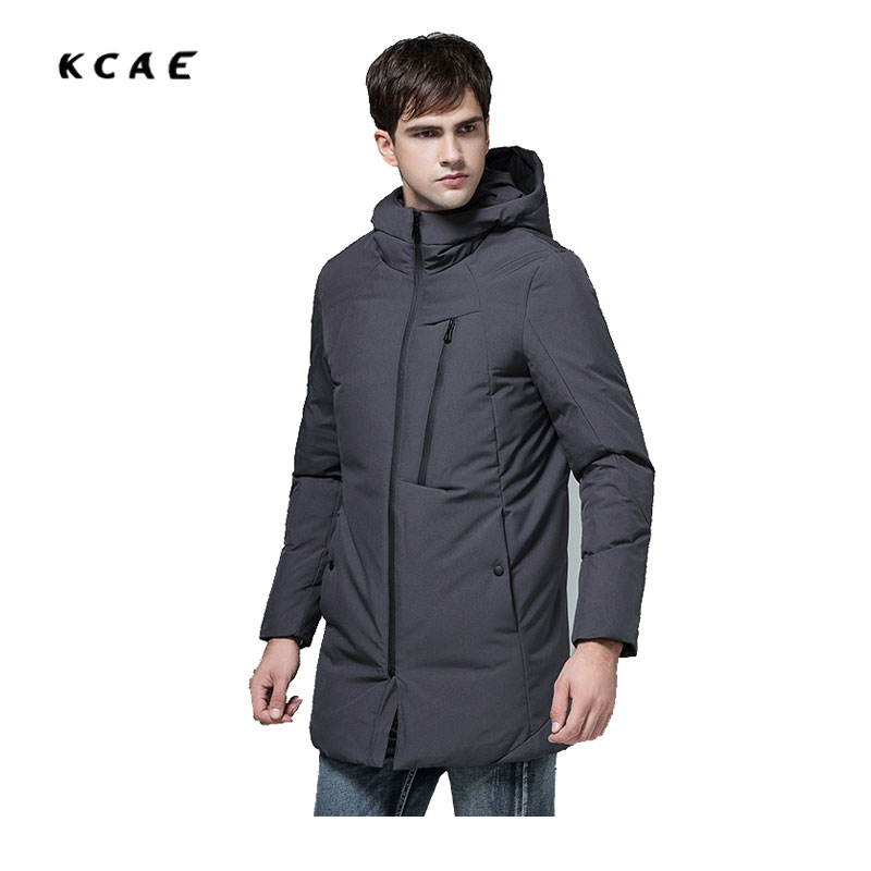 2017 new Winter in the European version of the Long thickening of cotton Men's jacket to increase the Size of hood Slim new england textiles in the nineteenth century – profits