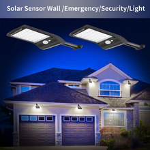 Solar Panel Wall Street Light 36 LED Lamp PIR Motion Sensor for Outdoor Garden Walkway Ultra Bright 36 LED Solar Lights JA55