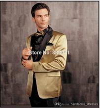 Latest Coat Pant Designs Gold Wedding Suits Slim Fit Skinny 2 Piece Formal Stylish Tuxedo Costume Stage Custom Blazer Vestidos