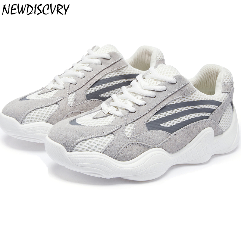 NEWDISCVRY Air Mesh Breathable Platform Sneakers Women 2019 Spring Fashion Women s Chunky Shoes Lightweight Woman