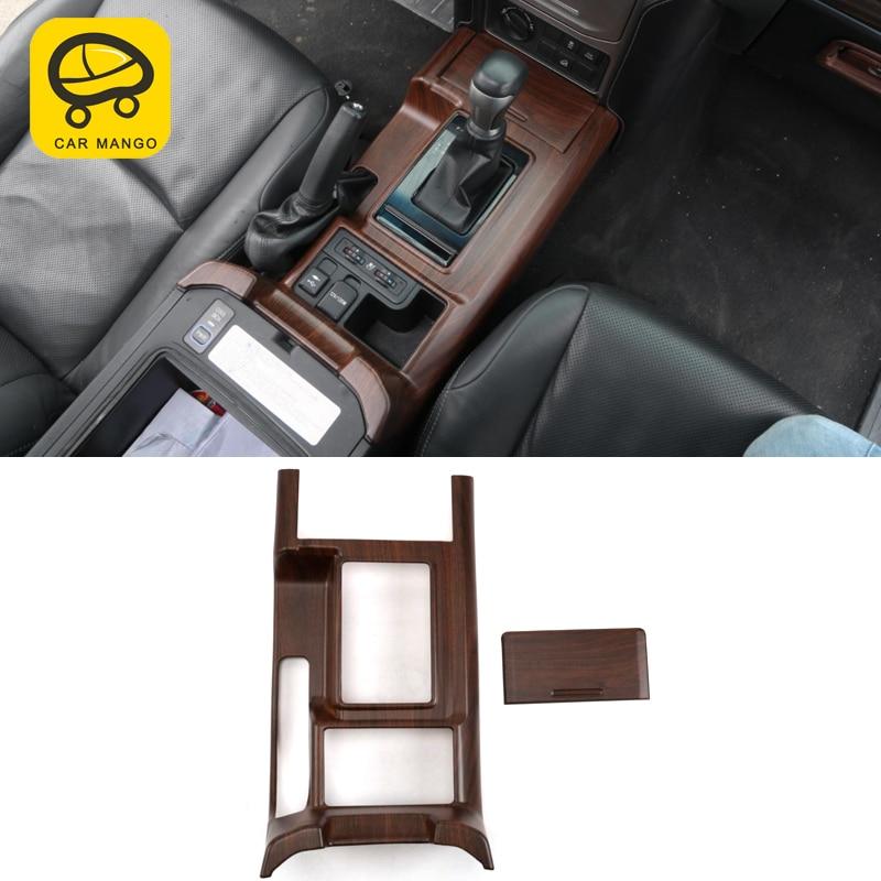 CarManGo pour Toyota Prado 2018 voiture style bois support de verre panneau couverture garniture cadre autocollant accessoires d'intérieur