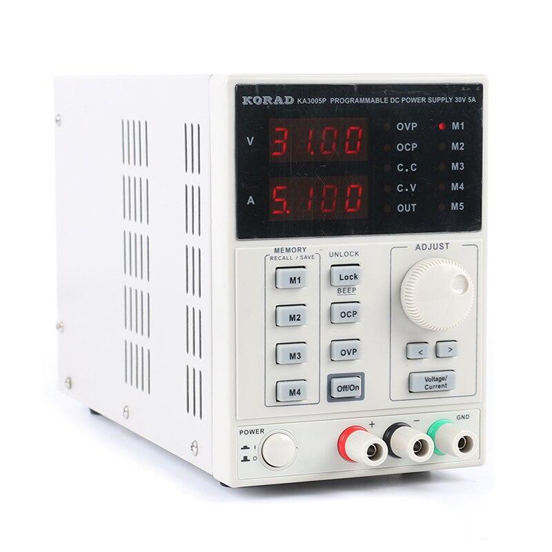 Лаборатории Мощность KORAD 3005 P Программируемый Регулируемый цифровой источник питания постоянного тока 30 В 5A 0,01 В/0.001A для лабораторных испыт...