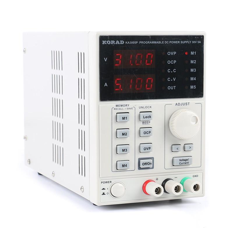 Laboratory Power KORAD 3005P Programmable Adjustable Digital DC power supply 30V 5A 0 01V 0 001A