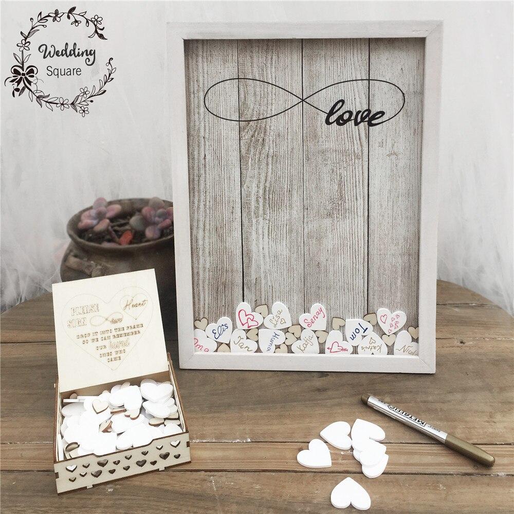 Ev ve Bahçe'ten Özel Konuk Kitapları'de 170 adet Kalpler benzersiz Düğün Dekorasyon Rustik Tatlı Düğün Ziyaretçi Defteri Kalp posta kutusu Düğün posta kutusu 3D Ziyaretçi defteri ahşap kutu'da  Grup 2