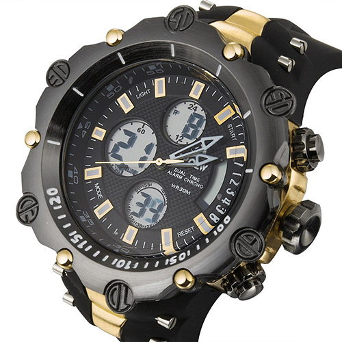 2016 Fashion Top Brand Luxury Sports Watches Men Digital Analog Watch Mens Military Army Waterproof Wristwatch relogio masculino