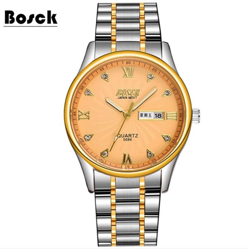 Couple watches ladies men fashion waterproof quartz watch a pair of steel strap watch simple