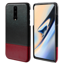 For Oneplus 7 7 Pro Case PU Leather Ultra Slim Dual Colors Splicing Hard Plastic Back Cover Case Shockproof Case For One Plus 7