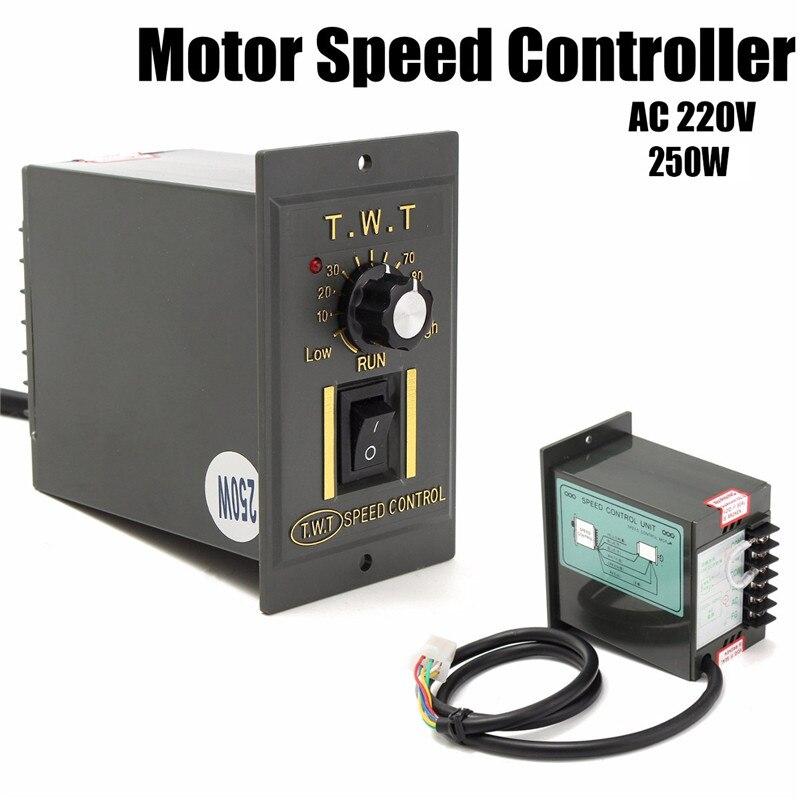 AC 220 V herramienta electrónica controlador de velocidad del Motor 250 W gobernador de velocidad Variable