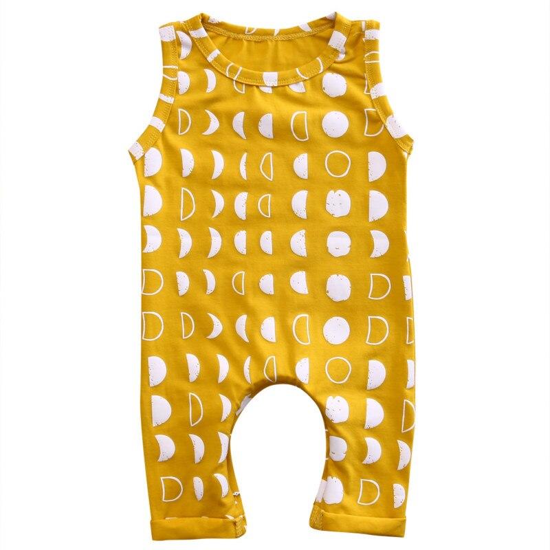 0-3Y Toddler Infant Baby Girls Boys One Piece Cotton Dot Crescent   Romper   Kids Summer Jumpsuit Playsuit Outfits Clothes Sunsuit
