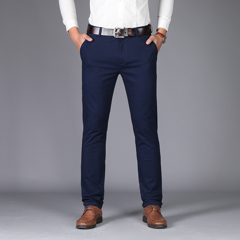 VOMINT New Fashion Male High-grade Slim Fit Business Suit Pants/Male Leisure Pure Color Casual Pants/men Thin Leg Pants 28-40