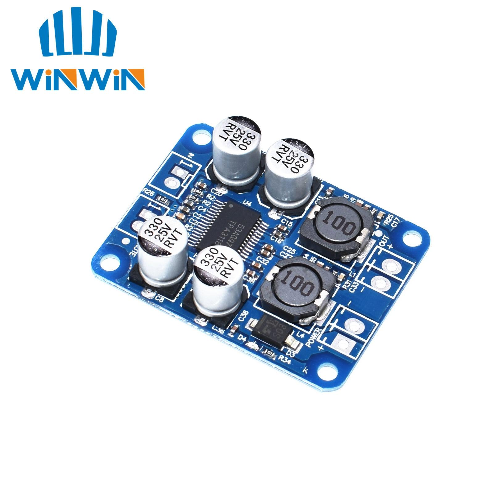 10pcs TPA3118 PBTL mono digital amplifier board 1X60W 12V 24V POWER AMP