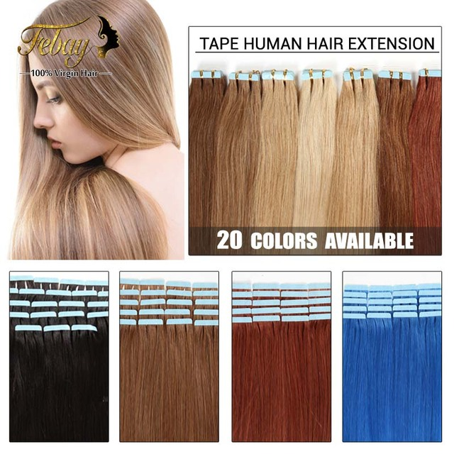 Aliexpress Buy 16inch 24inch Tape Human Hair Extension 20pcs