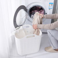 Plastic Portable Dirty Basket For Washing And Home Bathroom Sundries Children's Toys Baby Laundry Dirty Clothes Storage Basket