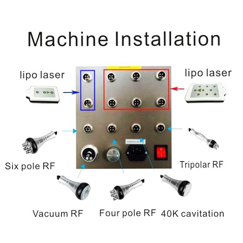 Factory Price !!! 6-1 Cellulite Removal Tripolar RF Diode Laser LLLT Lipo Laser Cavitation Machine Slimming Machine CEDHL Free Shipping (14)
