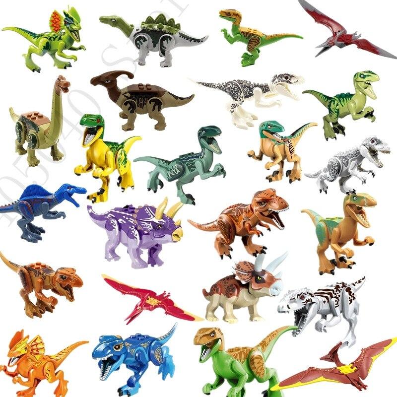 24 teile/satz Jurassics Welt Park Blöcke Dinosaurier Welt Spielzeug Modell Kinder Baustein Ziegel Spielzeug Für Kinder
