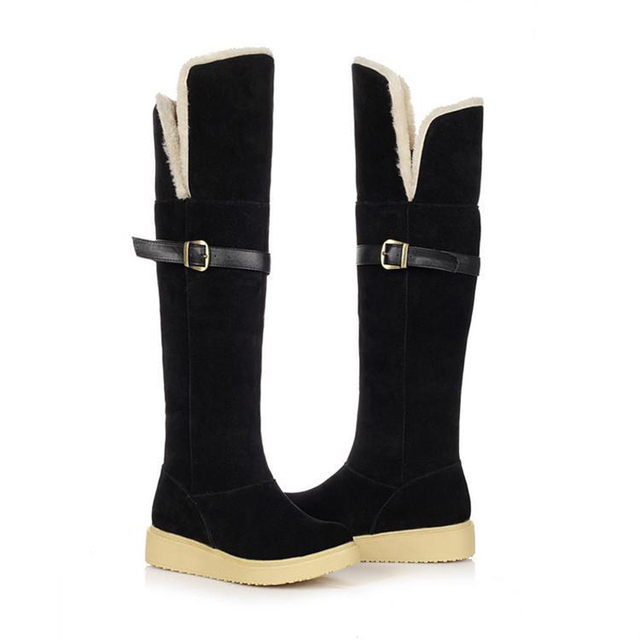 c4991dac1c1 099 2015 Hot Fashion Super thick Warm winter Woman s snow boots shoes 3  colors big size