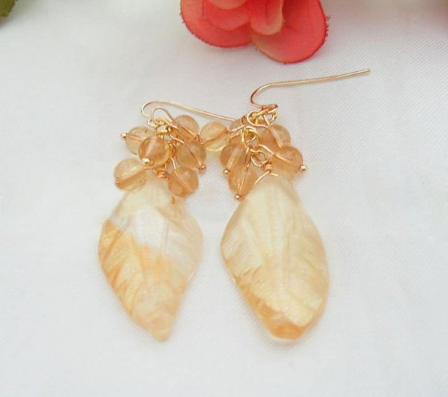 WOW! Natural Citrine Earring-925 Silver Hook   free+ shippment