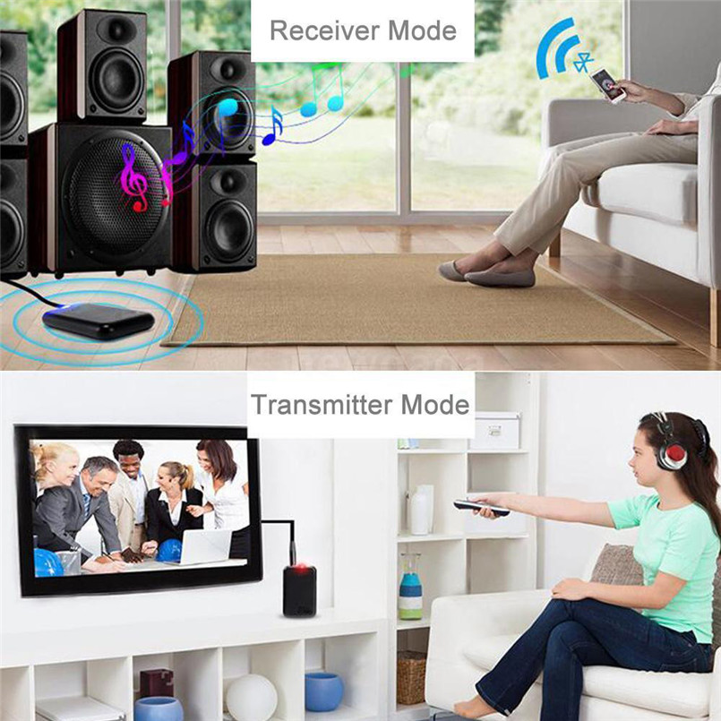 Wireless Bluetooth Transmitter Receiver Adapter Stereo Audio Music Adapter With USB Charging Cable 3.5mm Audio Cable #F30NT01  (4)
