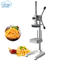 все цены на Manual Potato Slicer Machine Fries Cutting Machine French Fries Cutter Vegetable Cucumber Slicer 6/9/13MM Blade Kitchen Tool онлайн