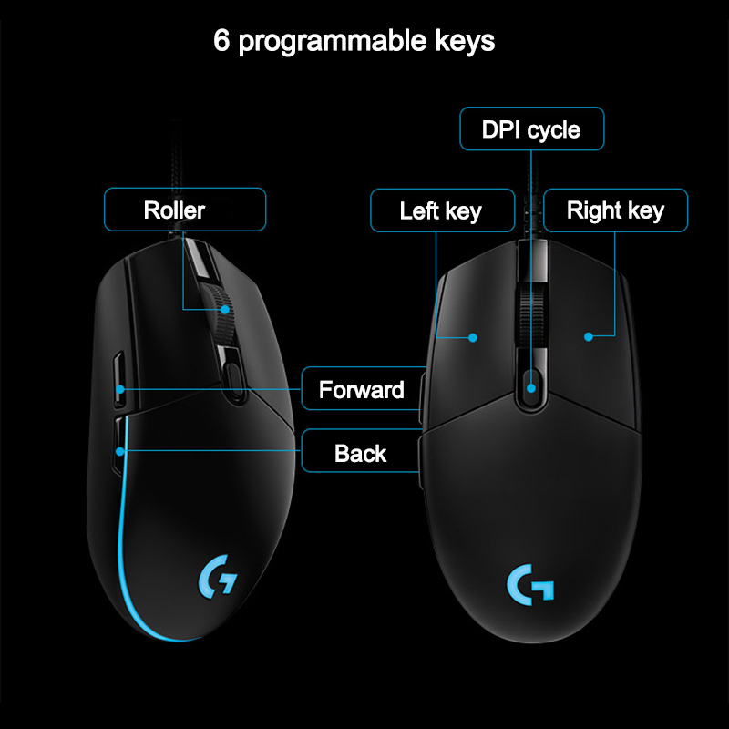 Logitech G Pro Gamer Gaming Mouse 12000dpi RGB Wired Mouse Officiële - Computerrandapparatuur - Foto 2