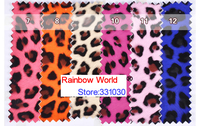 10 Rose High Quality Mirror PU Leather Fabric With Leopard Pattern For DIY Car Shoes Bags