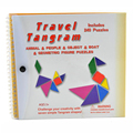 Tangram Magnetic Puzzles Toys For Children 3 Years Juguetes Educativos Montessori Matematica Challenge IQ magic Book Kids Toys