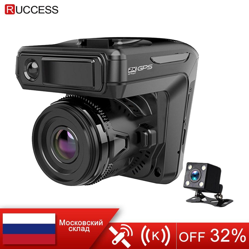 Novo 3 em 1 carro dvr traço cam gps 1296 p câmera do carro de lente dupla gravador vídeo dashcam registrador automático anti radar rússia voz