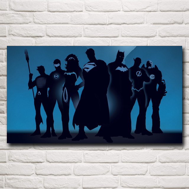 Batman VS Superman Movie Art Silk Fabric Poster Print 11×20 16×29 20×36 Inches Room Wall Decorative Pictures Free Shipping