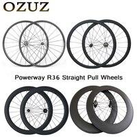 OZUZ Top Quality Straight pull Wheelset 38mm 50mm 88mm Carbon Road Bike Wheels 3K Matte or glossy 23mm wide 700C Wheelset