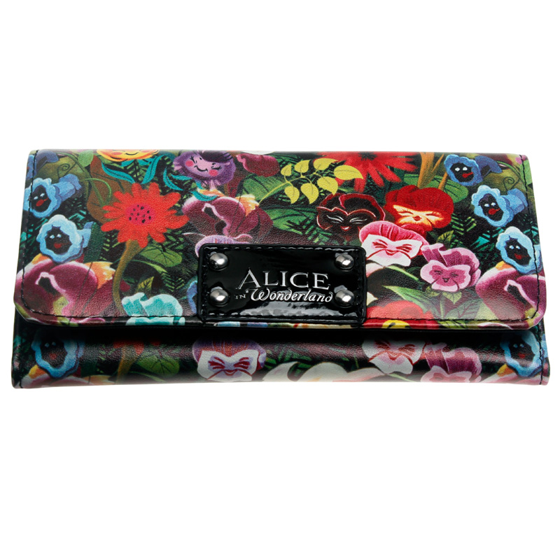 Alice Wallet Female PU Leather Wallet Leisure Purse Colorful Style 3Fold Flowers Printing Women Wallets Long Coin Purse DFT-1906