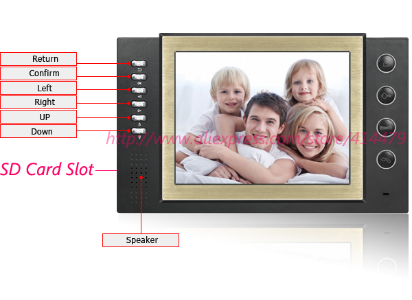 8 дюймов ЖК-дисплей Запись Экран домашнее видео дверь домофон Системы 700TVL Ночное видение Дверные звонки Камера max.32gb карты rocord