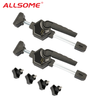ALLSOME Tabletop Clamper Adjustable Quick Release Grip Woodworking Clamp Fixed Jaw Parallel Clamp HT2565