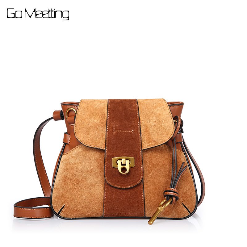Go Meetting Genuine Leather Fashion Women Shoulder Bags Designer Lock Messenger Bags Ladies Cow Leather High Quality Female Bag цена 2017