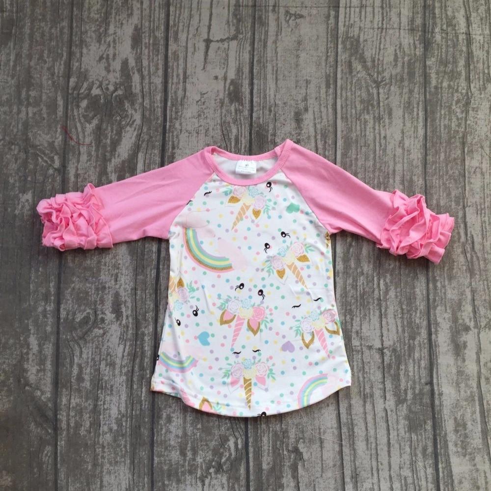 baby girls boutique raglans clothes girls unicorn raglans