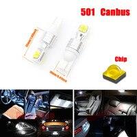 Dongzhen 2X 12 V-24 V Canbus Foutloos LED T10 W5W 501 80 W DRL Dagrijverlichting Kentekenverlichting Lamp Lamp Auto Wit